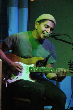 Kevin Giron played the Owl Acoustic Lounge,Oct. 9. Photo by Richard Amery