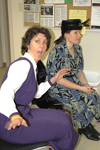 Donna Kalau and Vanessa Boila rehearse. Photo By Richard Amery