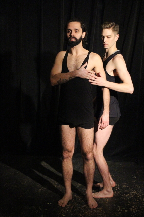 Kevin Jesuino and Brett Dahl perform in Like Orpheus at Club Didi, Feb. 25-March 1. Photo by Richard Amery