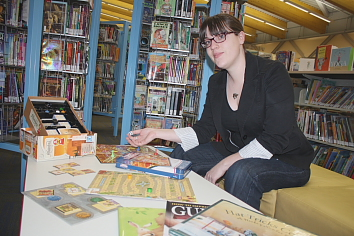 Paige McGeorge prepares for Literacy Day, Jan. 27. Photo by Richard Amery