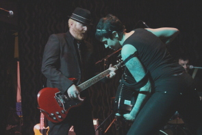 Finny and Katie mcConnell of the Mahones at the Slice. Photo by Richard Amery
