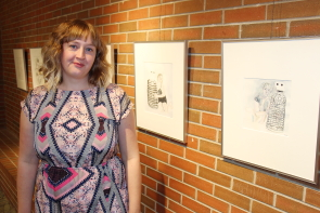 Marian Godfrey premiered her new art exhibit Wire Mother last week. It runs until Nov.30. Photo by Richard Amery
