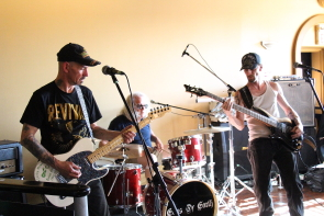 The Mark Hall band aka Undefined were among the local acts playing a fundraiser for the humboldt Broncos, May 12. Photo by Richard Amery