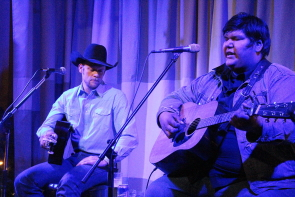 Markus Sommer and Richard Inman at the Owl Acoustic Lounge, Nov. 30. Photo by Richard Amery