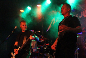 Metallica tribute Masters of Justice playing Average Joes, Sept. 21. Photo by Richard Amery