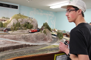 Braeden Dunn operates a train Southern Alberta Model Train Club's HO exhibit during their open House, Oct. 21 and Oct. 22. Photo by Richard Amery