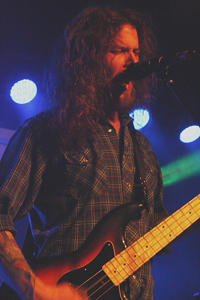 Monster Truck bassist Jon Harvey. Photo by Richard Amery