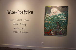 "Mortar & Brick features foiur artists in ""False Positive"" Photo by Richard Amery"