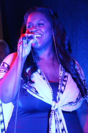 Mwansa Mwansa singing pop and R and B at Casino Lethbridge. Photo by Richard Amery