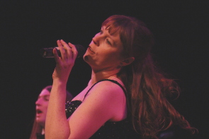 Erica Hunt performing with New West Theatre. Photo by Richard Amery