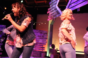 Erica Hunt and Andrea Bailey in New West Theatre's Barn Dance. Photo by Richard Amery