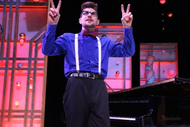 Rylan Kunkel performs with New West Theatre in Celebrate. Photo by Richard Amery