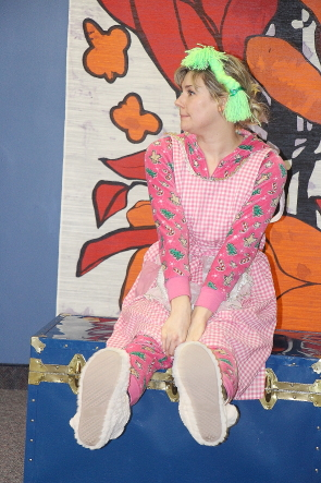 Camille Pavlenko rehearses for New West Theatre's presentation of Hansel and Gretel at Casa, Dec. 26-Jan. 6. Photo By Richard Amery