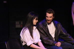 Mataya Mikuliak and Jesse Thibert in She Is Buried at the one Act Play Festival. Photo by Richard Amery