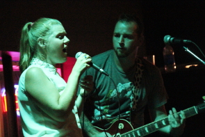 Bridgette and Richard Yarwood of Outrun the Arrow at the Slice, Aug. 18. Photo by Richard Amery