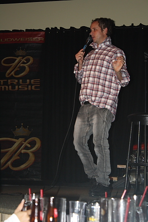 Pauly Shore entertains full Average Joes. Photo by Richard Amery