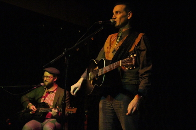 Nathan M Godfrey and Petunia playing the Slice, Jan. 25. Photo by Richard Amery