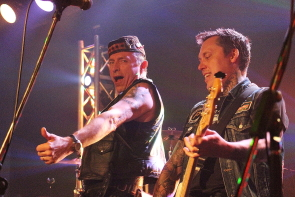 The Real McKenzies Paul Mckenzie and Troy Jak at Average joes, March 16. photo by Richard Amery