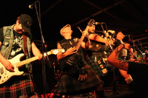 The Real mcKenzies playing all of their favourites at Bully's Entertainmnet Centre. Photo by Richard Amery