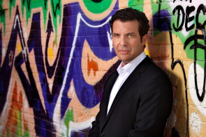 Rick Mercer talks about what it means to be Canadian at the Enmax Centre this week. Photo by Jon Sturge, Mercer Report