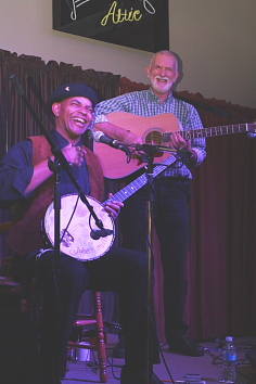 Rod  and Guy Davis play Can't Be Satisfied. Photo by Richard Amery