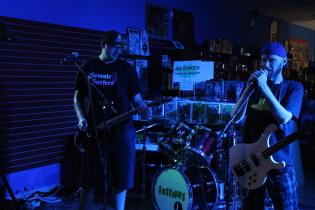 Local punk band Sessions return to the Slice, Sept. 5. Photo by Richard Amery
