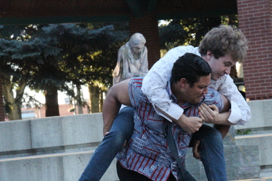 Romeo and Tybalt fight. Photo by Richard Amery