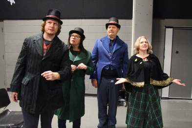 Keith Miller, Shelly David, John Poulsen and Megann Fennell are excited Shakepseare Meets Dickens, Dec. 20 at Casa. Photo by Richard Amery