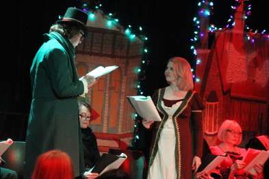 Keith Miller and Megan Fennell perform in Shakespeare Meets Dickens. Photo by Richard Amery