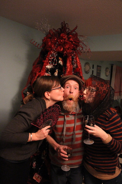(L-R); Heather Ladd, Jeff Graham and Kristine Alexander are getting into the Christmas spirit with Shakespeare Meets Dickens, Dec. 16 at Casa. photo by Richard Amery