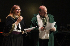 Shelly David and DJ Gellatly enjoying Shakespeare Meets Dickens at Casa, Dec. 14. photo by Richard Amery