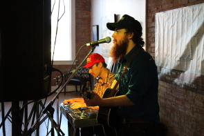 Carter Felker and Skinny Dyck playing the Wide Skies launch, May 12 at Jonny Bean, May 12. Photo by Richard Amery