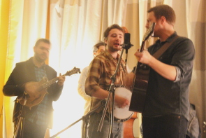 The Slocan Ramblers playing the Owl Acoustic Lounge, Nov. 18. Photo by Richard Amery