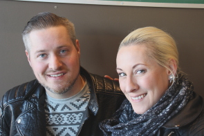 Cutline: Amanda and Tyler Wilkinson are excited about their new CD Pistology. Photo by Richard Amery