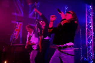 Stage Fright: the Def Leppard Experience plays Club Lime this week. Photo by Richard Amery