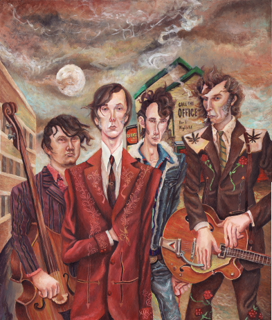 The Sadies play the Geomatic Attic, Sept. 18.  Illustration by Jeremy Bruneel