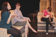 Lesley Galbecka, Erica Hunt and Meghan Porteous are Three Fine Girls. Photo by Richard Amery
