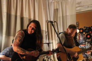 Tiger Moon's Kasey Graff and Dan Tait at the Owl Acoustic lounge. Photo by Richard Amery