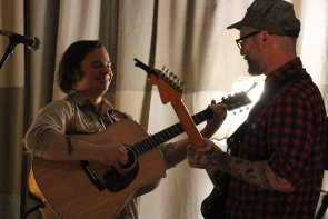 Todd Stewart and Danny Vacon playing togehter. Photo by Richard Amery