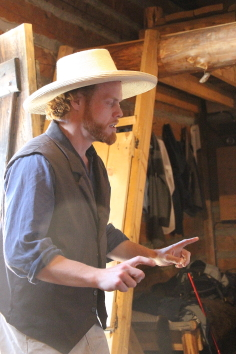 Nick Bohle performing in Trader tales last summer. Photo by Richard Amery