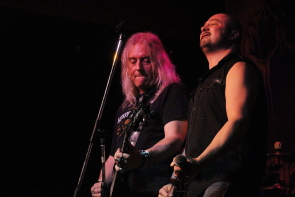 Curtiss Vaselenak and Phil Sirias of Tyrants of Chaos at the Slice, May 4. Photo by Richard Amery
