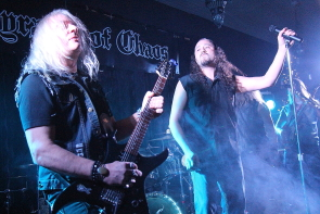 Curtiss Vaselenak and Phil Sirias of Tyrants of Chaos play a sold out show at the Slice, Dec. 16. Photo by Richard Amery