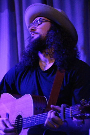 Tyson Ray Borsboom playing his CD release party at teh Owl Acoustic lounge, Feb. 22. photo by Richard Amery
