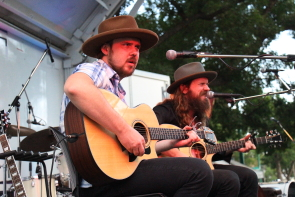 Ryan and Sam Weber were back in Lethbridge for the Wide Skies music Festival in August. photo by Richard Amery