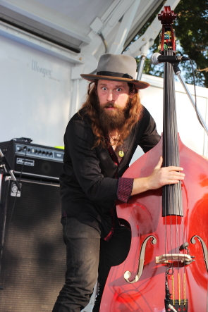Ryan Weber of the Weber Brothers at wide skies music Festival. photo by Richard Amery