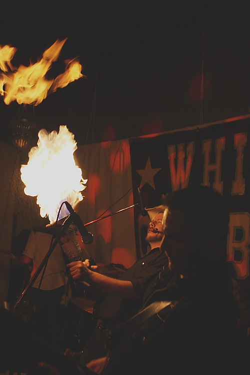 White Cowbell Oklahoma to set the night on fire, Feb. 18. Photo by Richard Amery