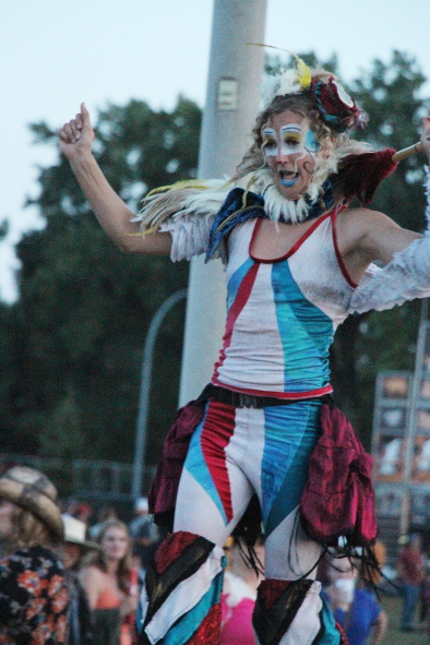 Stilt Walkers  at Whoop Up Days, Aug. 20 at Exhibition Park. Photo  by Richard Amery