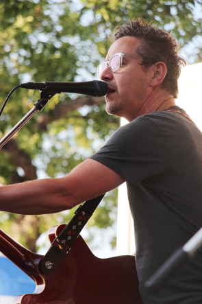 Danny Michel playing wide Skies Music Festival, July 30. Photo by Richard Amery