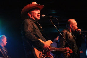 Dave and Phil Alvin and the Guilty Few playing Southminster United Church for the Wide Skies Music Festival, July 26. Photo by Richard Amery