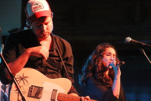 Lindi Ortega and guitarist Champagne James Robertson at Southminster United Church, July 26. Photo by Richard Amery